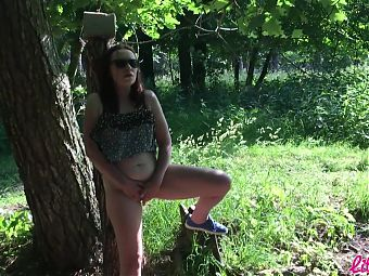 Little Izka fucked in the forest