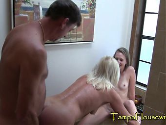 Hot Threesomes with Two Horny Bisexual Sluts