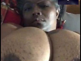 46 G Size Titty Milf showing off on video chat