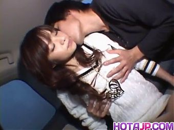 Hot milf Aimi in a car sex scene fucks and gets vibrator in her pussy