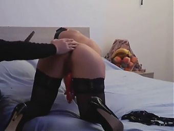 Husband watches young wife masturbate and enjoy - milf